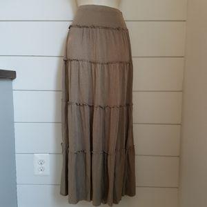 Charlotte Russe Boho Festival Maxi Skirt